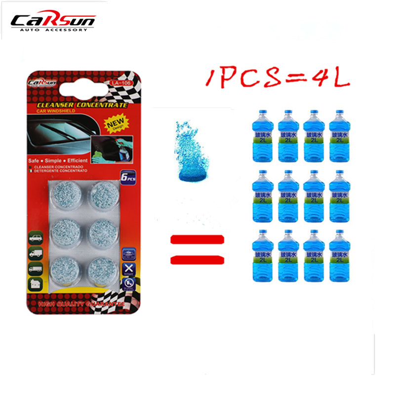 l water - 6PCS/Pack(1PCS=4L Water) Brand New Car Solid Wiper Fine Car Auto Window Cleaning Car Windshield Glass Cleaner