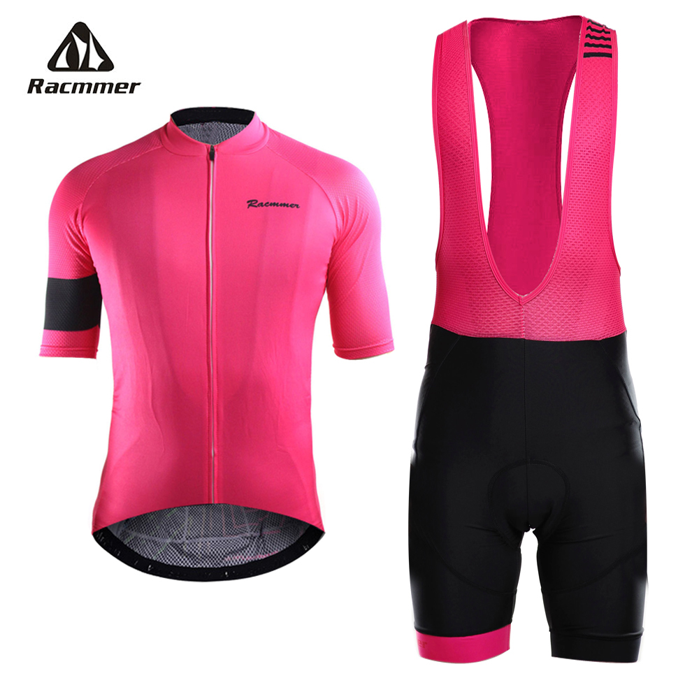 Racmmer 2019 Pro Summer Cycling Jersey Set Mountain Bike Clothing MTB Bicycle Clothes Wear Maillot Ropa Ciclismo Mens 5 Colors