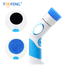 TOPFENG Electric Cleaning Brush-Handheld Kitchen Power Scrubber Brushes-Scrubber with Multiple Brush Head Tool Set