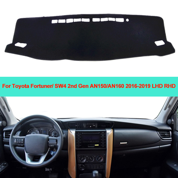 Car Inner Dashboard Cover Dash mat Carpet Cushion Sun Shade For Toyota Fortuner / SW4 2nd Gen AN150/AN160 2016 2017 2018 2019 image