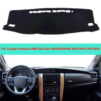 Samochód wnętrze deska rozdzielcza pokrywa mata na deskę rozdzielczą dywan poduszki parasol przeciwsłoneczny dla Toyota Fortuner SW4 2nd Gen AN150 AN160 2016 2017 2018 2019 tanie i dobre opinie ZJZKZR Włókien syntetycznych For Toyota Fortuner 2016 2017 2018 2019 LHD RHD For Toyota SW4 2nd Gen AN150 AN160 2016 2017 2018 2019 LHD RHD