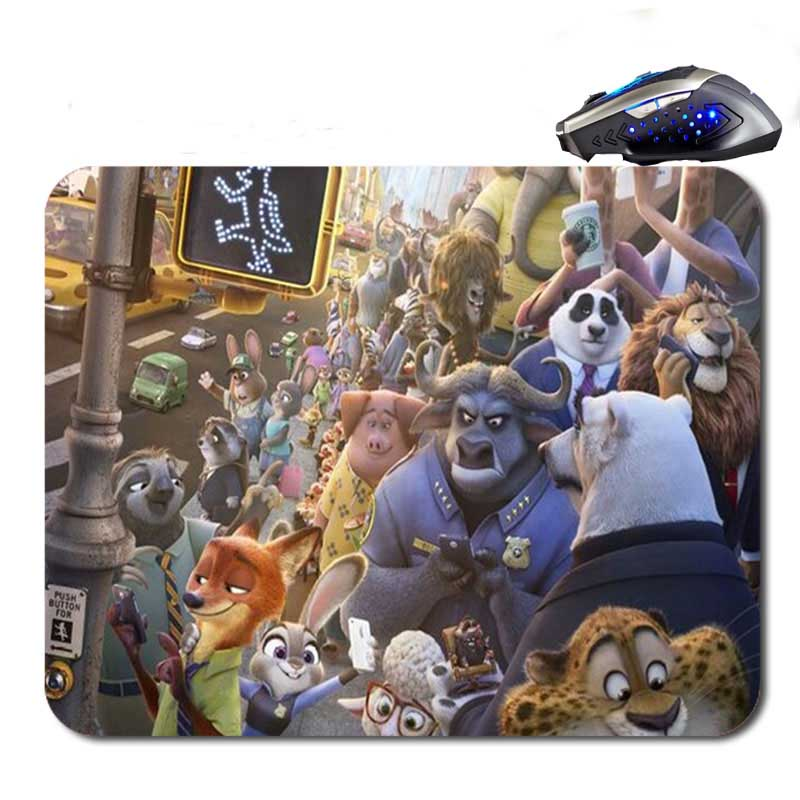 Free Shipping The movie crazy animals Custom font b Gaming b font Mouse Mat High Quality