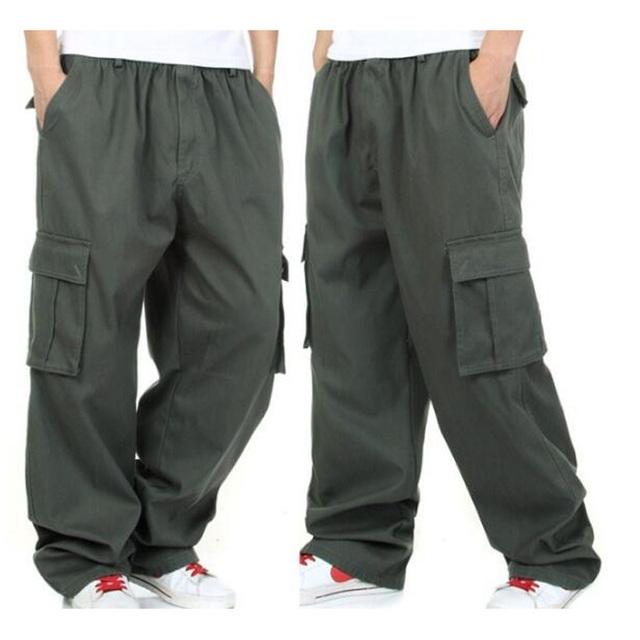 male trousers overalls pants men's plus size loose baggy hip hop pants