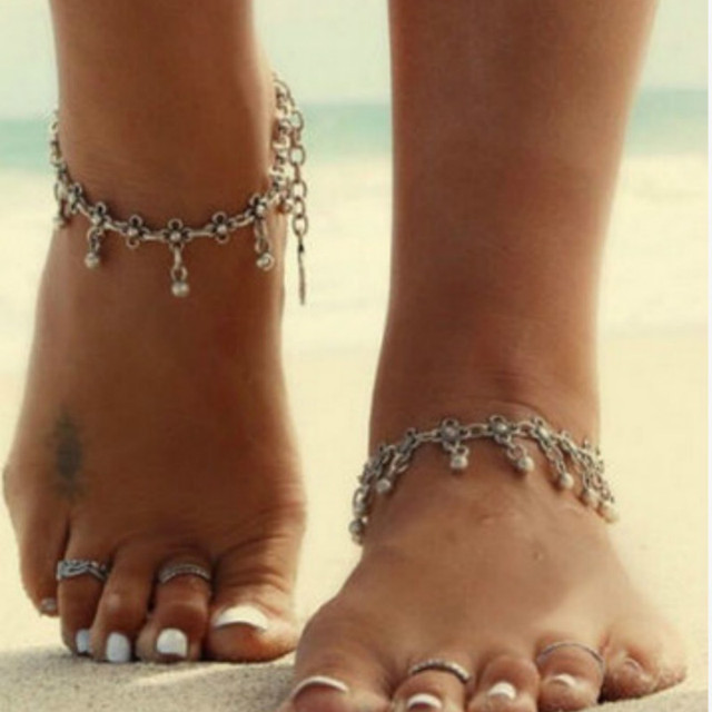 New Boho Collares Vintage Bohemios Ankle Bracelet For Women Barefoot Sandals Beach Foot Jewelry Ankle Summer Beach tornozeleira 1
