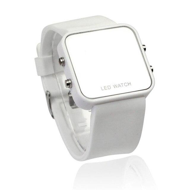 New Women Men Watches Ladies Fashion Sport Mirror Quartz Watch Wristwatches Cale