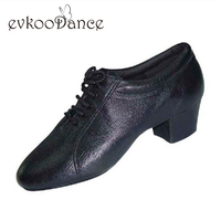 Size US 4.5 13.5 Zapatos De Baile Heel Height 4cm Black Genuine Leather Professional Man Dancing Shoes Salsa Latin Shoes ML007
