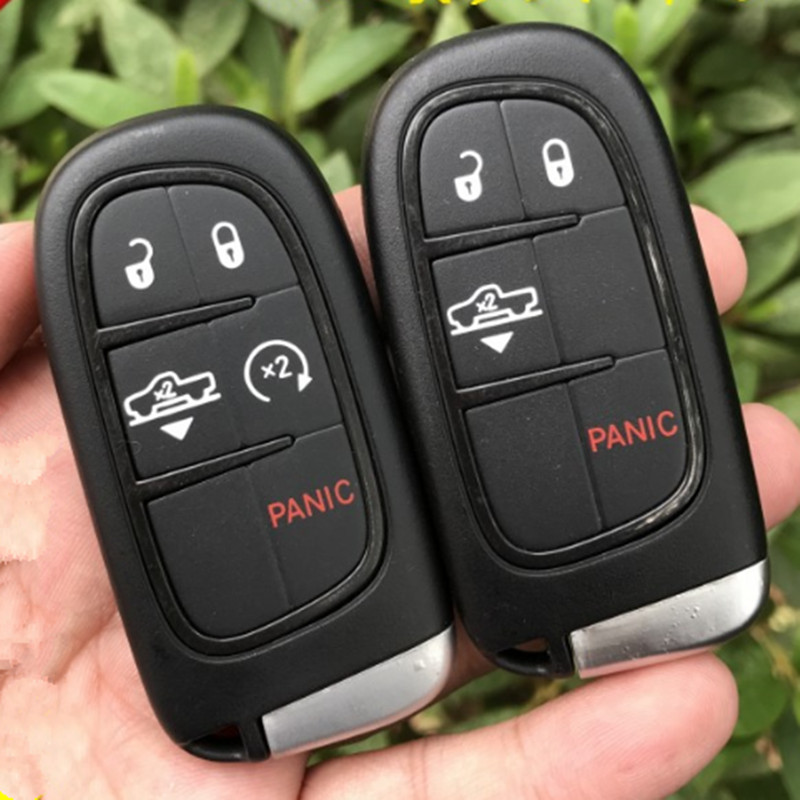 DAKATU 4/5 Button Smart Remote key shell For Jeep Dodge Journey Keyless Smart Remote Key Case shell fob
