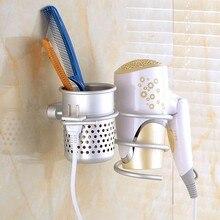 Heiße Verkäufe Hoher Qualität Zu Hause Lagerung Halter Wand Haar Trockner Trockner Kamm Aluminium Halter Rack Nützlich Ständer Set