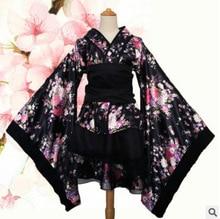 Japanese Kimono Vintage Original Tradition Silk Yukata Dress Japan Sexy Costumes Dancing Performances Costume Dress S-XL