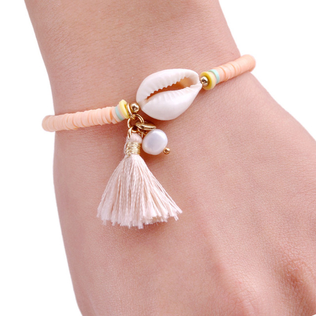 2018 New Fashion Shell Bracelets Summer Tassel Jewelry Accessories     2018 New Fashion Shell Bracelets Summer Tassel Jewelry Accessories Handmade  Beaded Friendship Strand Bracelet