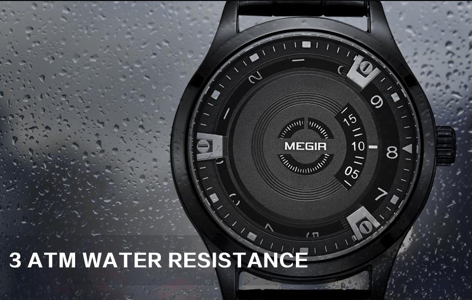 Topdudes.com - MEGIR Top Brand Luxury Leather Engraved Dial Military Watch