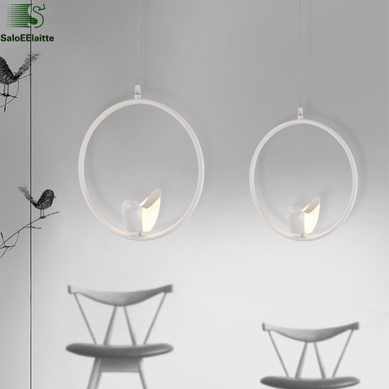 6W Nordic Modern Bird Led Pendant Light Dining Room Bar Minimalism Led Hanging Light Lustre luminaria Led Suspend Lamp