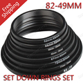 8pcs 82 77 72 67 62 58 55 52 49mm Step Down Ring Adapter Kit Set For Canon Nikon