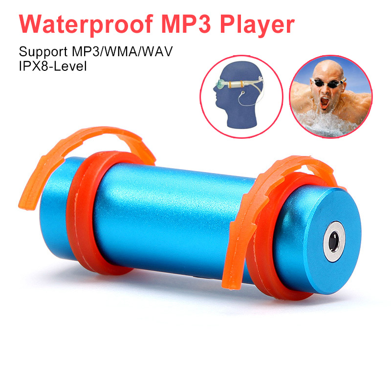 Diving Waterproof Swimming 4GB 8GB MP3 Player Underwater Sports MP3 With Waterproof Earphone For Swimmer
