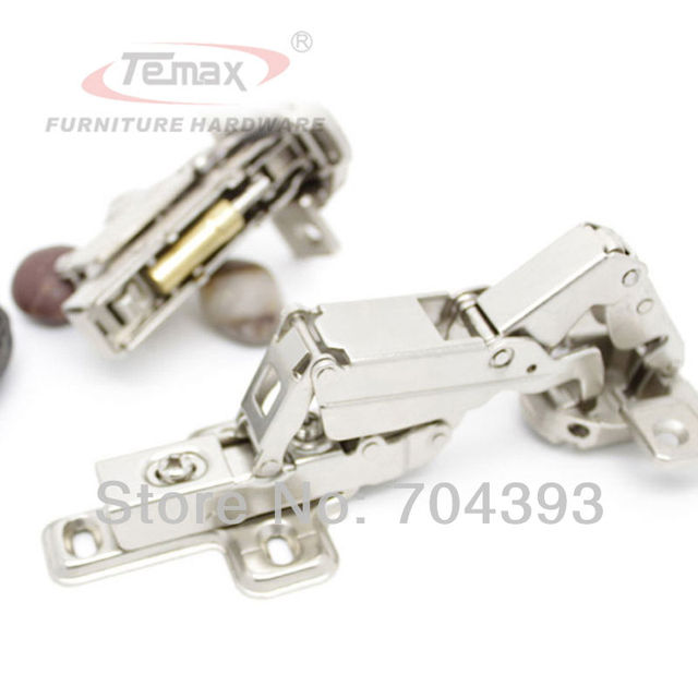 6pcs Full Overlay 165 Degree Clip-on Concelaed Hinges Cabinet Kitchen Furniture Hydraulic Buffer