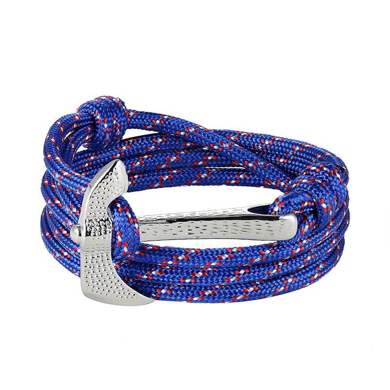 Hot Fashion Jewelry Multilayer Risers Scrub Black Alloy Anchor Bracelet Men Leather Bracelet for Women&Men friendship bracelets