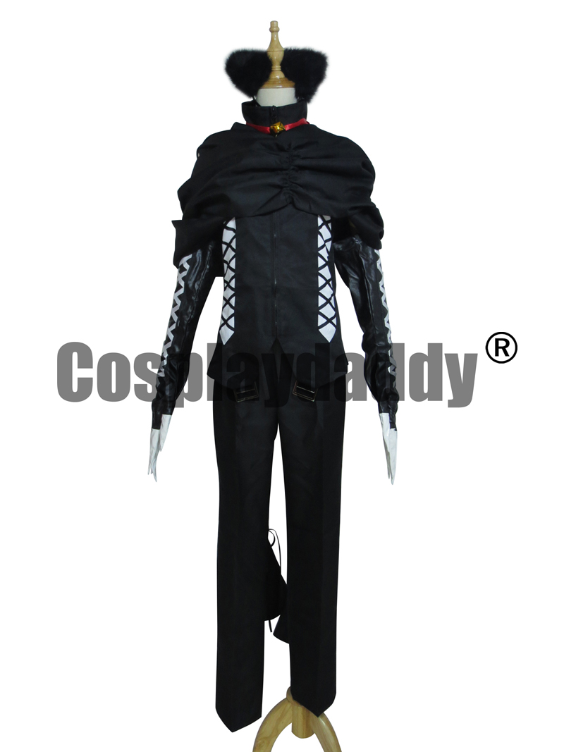 Pandora coeurs Cheshire Halloween Costume noir ensemble Costume Cosplay