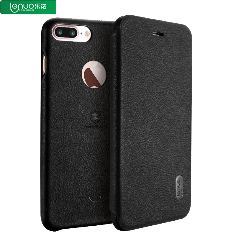 Lenuo For iPhone 7 plus Flip case Luxury Litchi Texture PU Leather Phone Wallet Case Kickstand Cover for iPhone 6s plus Fundas