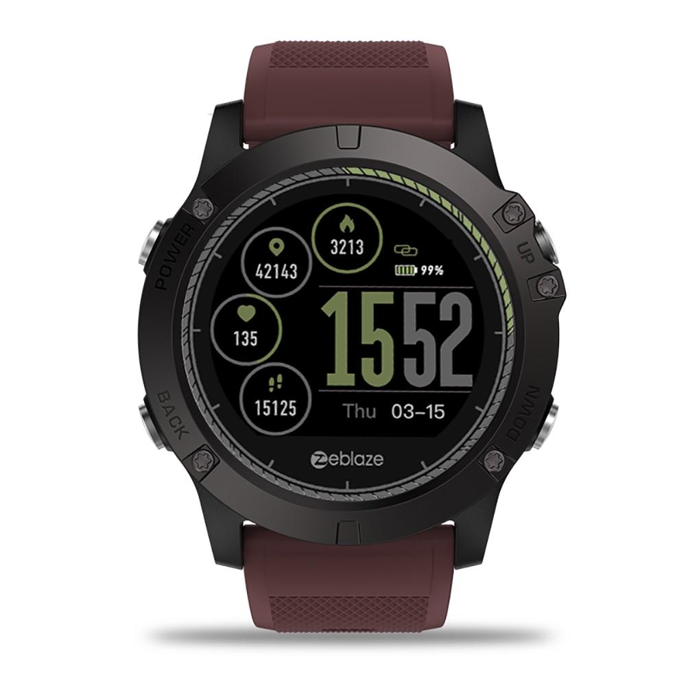 Zeblaze VIBE 3 RH Smartwatch IP67 Étanche Intelligent Poignet Fitness Tracker Podomètre À Distance Caméra Appel Des Rappels Montres