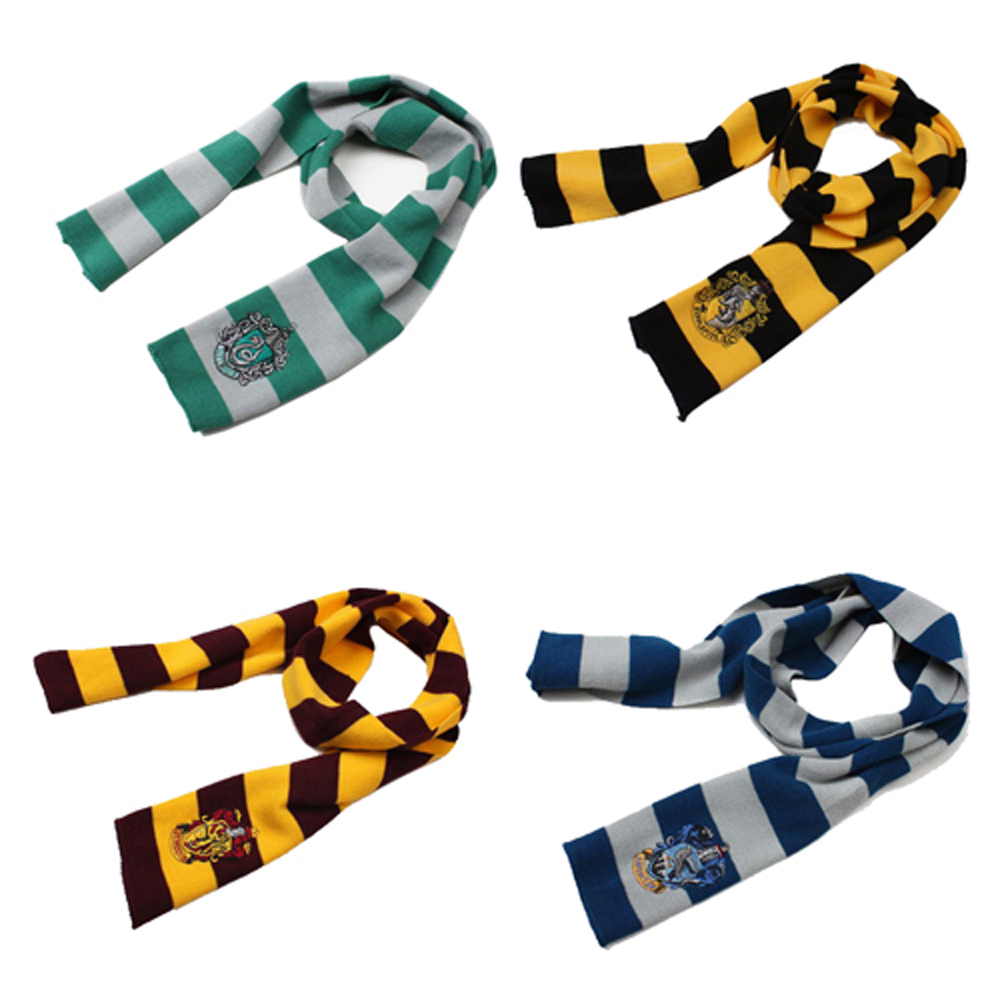 Cosplay Harri Scarf Potter Scarf Gryffindor Slytherin Ravenclaw Hufflepuff 4 Color Harri Potter Scarf Costume Accessory Gift
