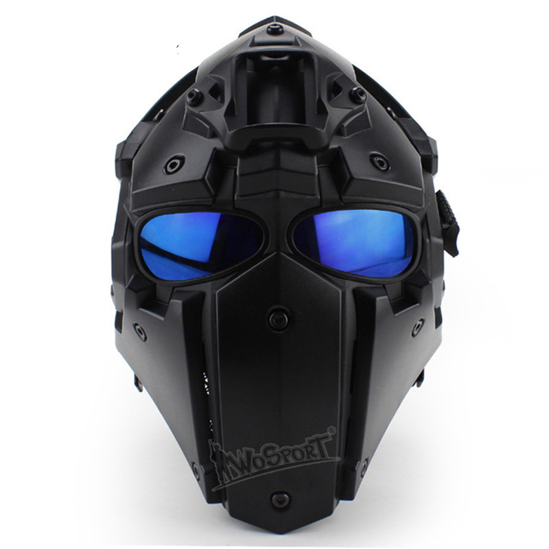 2019 Fashion Wosport Hot Tactical Full Face Anti-fog Len Safe Mask With Goggle For Airsoft Military Paintball Hunting Accessories Suitable For Men And Women Of All Ages In All Seasons Sports & Entertainment Shooting