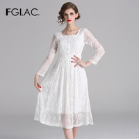 FGLAC vestidos de fiesta de noche New 2019 spring summer dress Elegant Slim vintage party dresses lace women