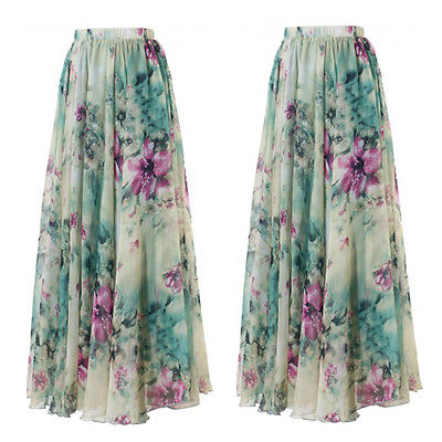 bd2dc2ae9fa5c US $8.79 8% OFF|New Women's Boho Floral Long Maxi Skirt Summer Beach Party  Sun Vintage Skirt-in Skirts from Women's Clothing on Aliexpress.com | ...