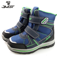 QWEST Warm Hook&Loop Snow Boots Boot High Quality Anti slip Kid Shoe for Boys Size 31 36 82M YC 1055