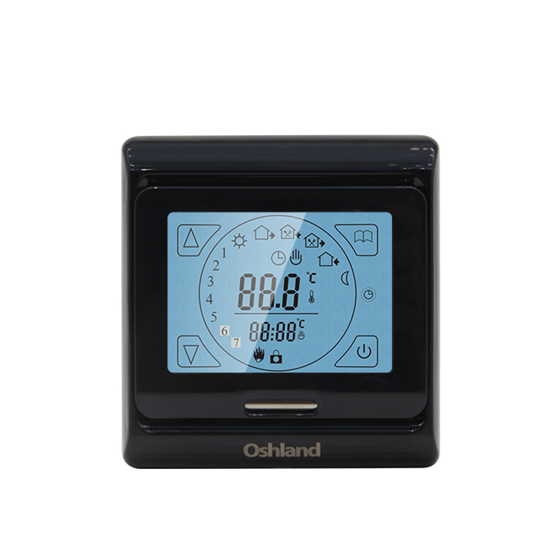 Free Shipping Black Color Digital Floor Heating Thermostats 16A Programmable Room Touch Screen Temperature Controller