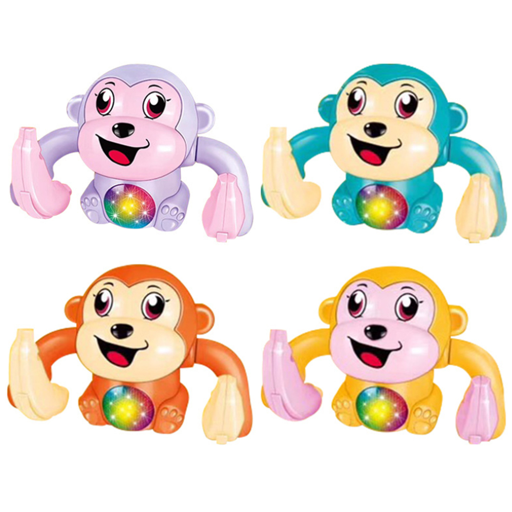Light Sound Fun Rolling Doll Electric Tumble Monkey Toy Voice Control Animal Model Toy  Educational Toys For Children