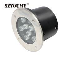 SZYOUMY Led Underground Light 9W Warm White/Cold White Floor Lamp Led Outdoor Floor Lighting IP65 AC85~265V For Garden Using
