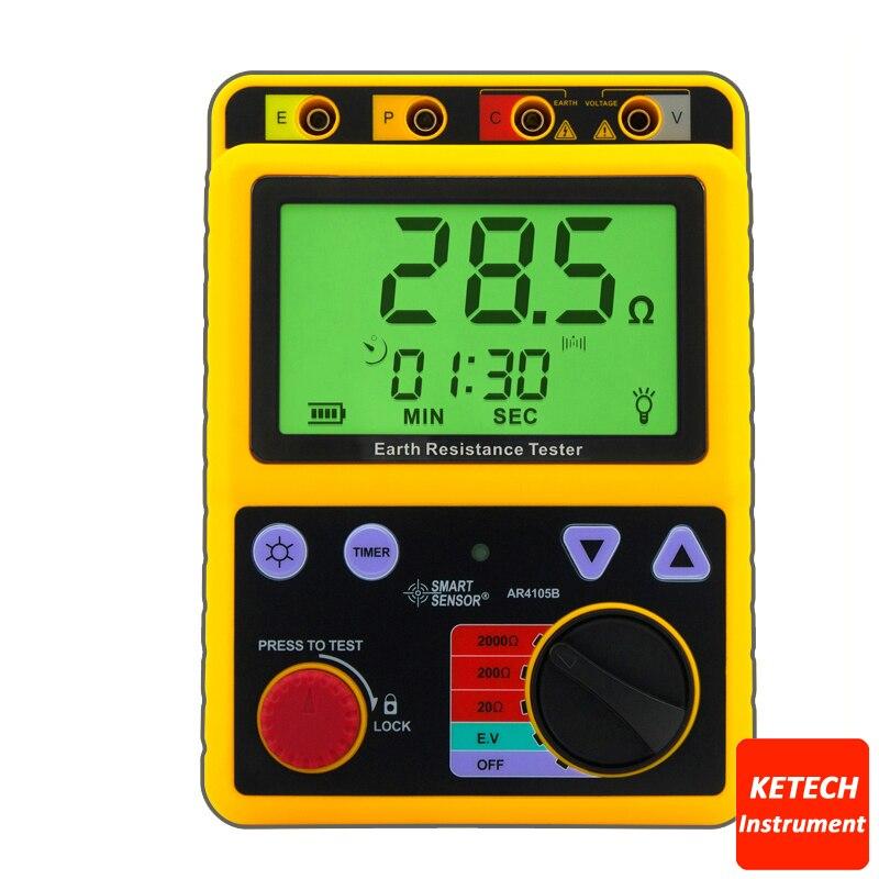 Testeur de résistance à la terre numérique 20ohm/200ohm/2000ohm AR4105B - 2