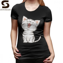 Kitten T-Shirt American Shorthair Happy T Shirt O Neck Funny