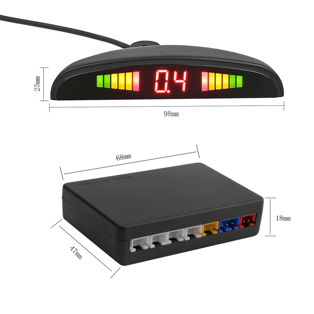 Image 3 - AOSHIKE New Auto Parktronic LED Parking Sensor with 4 Sensors Reverse Backup Car Parking Radar Car Monitor Detector System-in Parking Sensors from Automobiles & Motorcycles