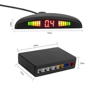 Image 3 - AOSHIKE New Auto Parktronic LED Parking Sensor with 4 Sensors Reverse Backup Car Parking Radar Car Monitor Detector System
