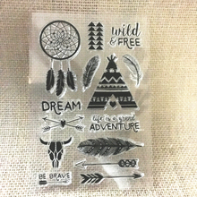 Wild One Baby Dreamcatcher Gift Transparent Clear Silicone Stamp/Seal for DIY Scrapbooking/photo Album Decorative beauty backgrounddesign transparent clear silicone stamp seal for diy scrapbooking photo album wedding gift cc 084