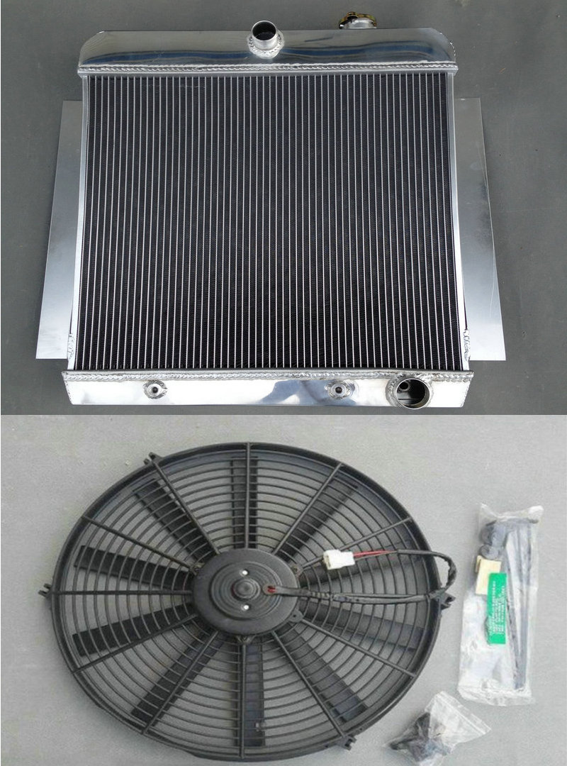 High Performance Aluminum Radiator FAN 1955 1959 For CHEVY PICK UP TRUCK 55 56 57 58