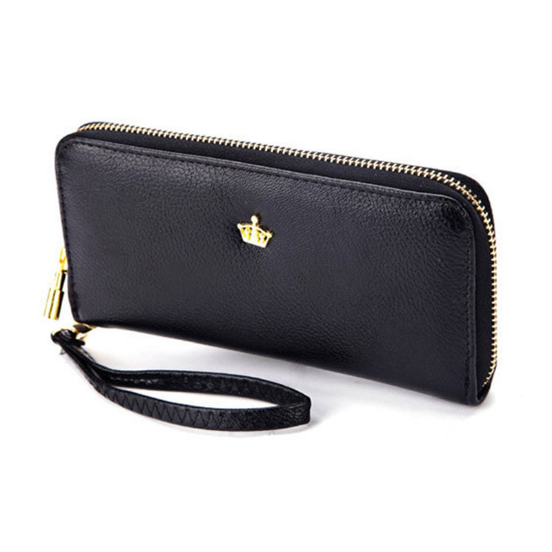 Woman Wallet Women Wallets and Purses Crown Portefeuille Femme Billeteras Mujer Marca Famosa Portafoglio Donna Womens Wallet mini lcd display backlit portable digital scale 100g 0 01g 2 x aaa