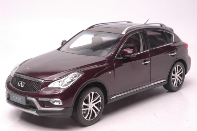 1 18 Scale Cast Model Car For Infiniti Qx50 2016 Red Suv Alloy Toy Ex25