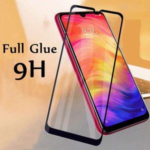2.5D 9 H واقي للشاشة الزجاج ل Xiaomi Redmi 7 تخفيف من الزجاج الكامل الغراء جراب هاتف شاومي Redmi 7 6.26 بوصة طبقة رقيقة واقية