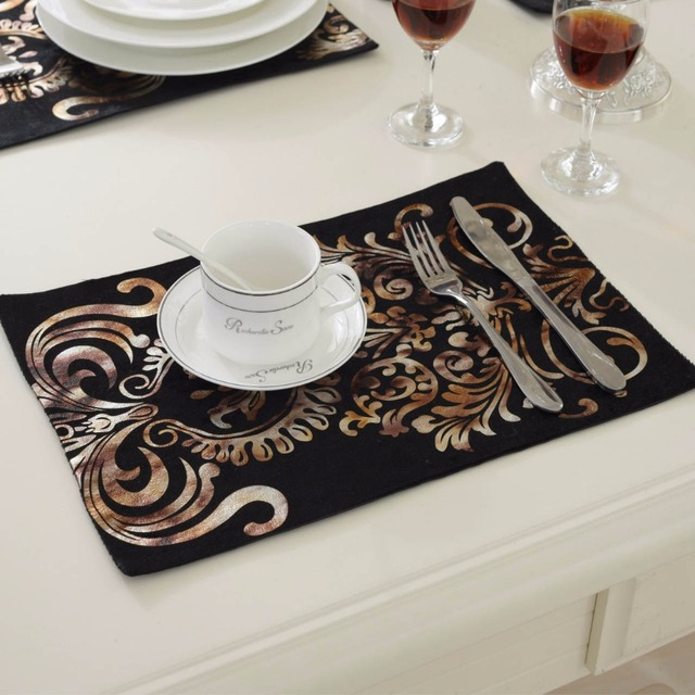 10Pcs/lot 26*38CM Fashion Luxury Dinner Placemats Tableware Pad for Wedding Party Decoration & 10Pcs/lot 26*38CM Fashion Luxury Dinner Placemats Tableware Pad for ...