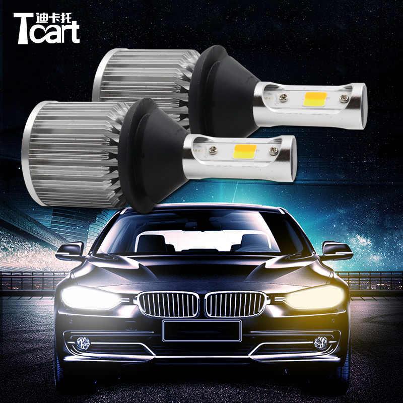 Tcart 2 piezas Auto COB Led lámparas WY21W T20 del coche LED DRL luces diurnas las señales de giro para Toyota Corolla prado Avansiste 2013