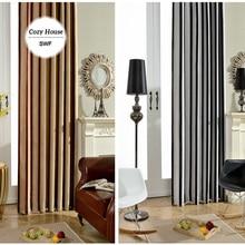 Rayé Moderne Rideau Blackout Rideaux Pour Chambre Noir Blanc Stores Rideaux Pour Salon Porte Fenêtre Traitements Panneaux