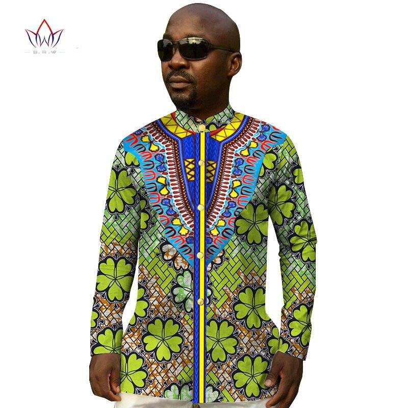 Custom Men Shirts Long Sleeve Mandarin Collar Print ...