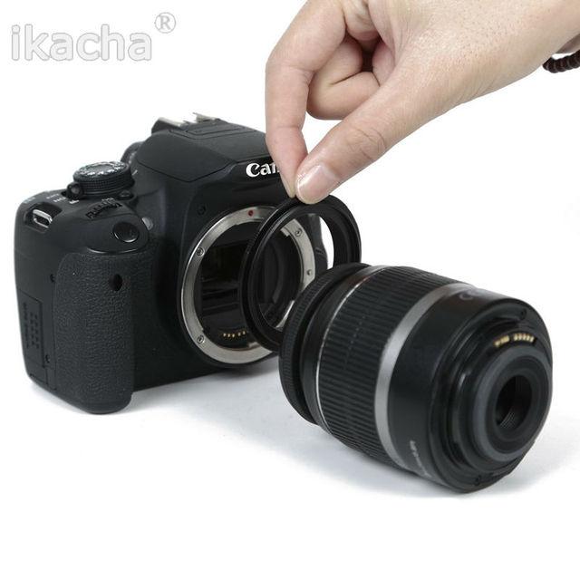 Camera Reverse Adapter Ring for Canon 58mm Macro Reverse lens Adapter Ring for Canon EOS EF Mount 550d 650d 450d 700d 1000d