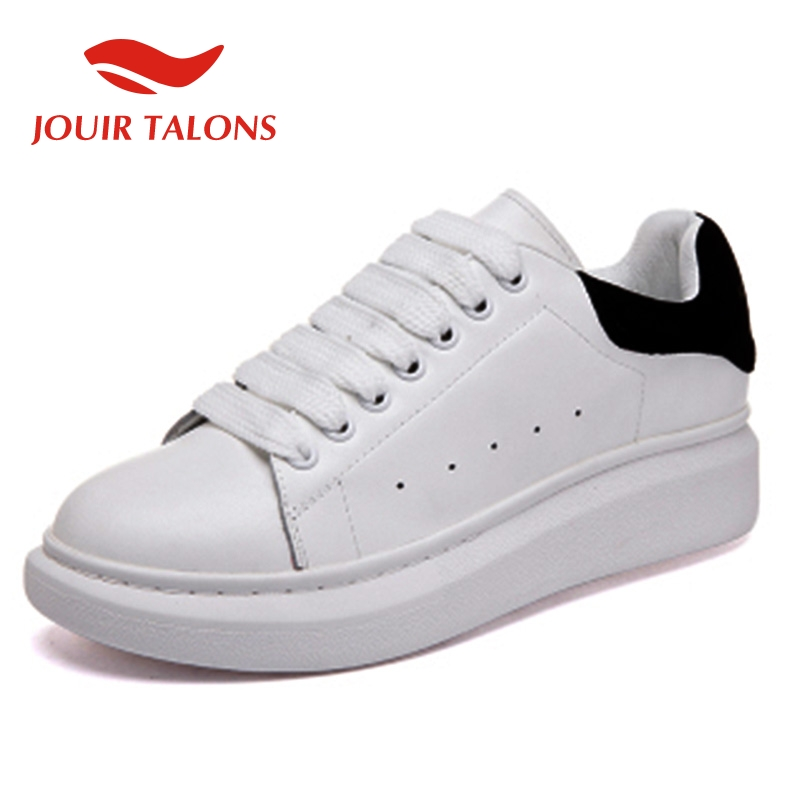 JOUIR TALONS Ins Fashion bloggers big size 44 chic Sneakers genuine leather flats leisure women Shoes