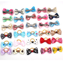 30pcs/ pack pet Hair Bows dog and cat metal hairpin rubber band with chihuahua accessories OR026