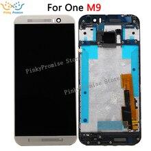 "100% test 5.0 ""HTC ONE M9 LCD Dokunmatik Ekran Çerçevesi ile HTC M9 Ekran Digitizer Meclisi Değiştirme parçaları M9E M9W LCD"