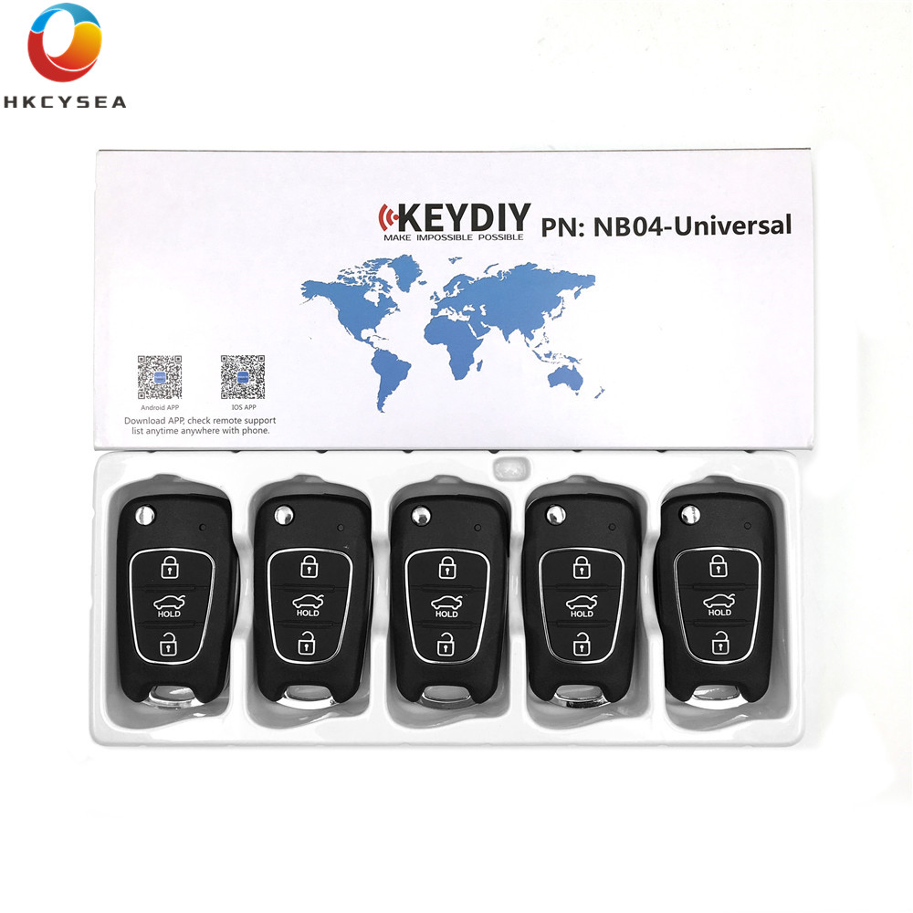 HKCYSEA 5PCS LOT NB04 NB Series Universal Multi functional 3 Button Remote Control for KD900 KD900