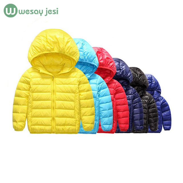 1-10 Year Winter jacket for boys girls down coat children's winter jackets fashion duck down jacket kids girls outerwear parka
